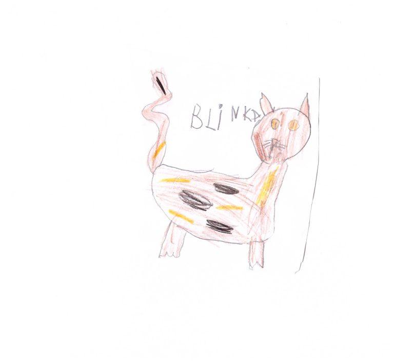 Blinka ritad av Meja